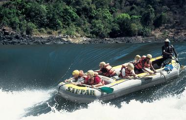 White water rafting on the Zambezi