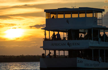 Celebrations aboard the African Queen
